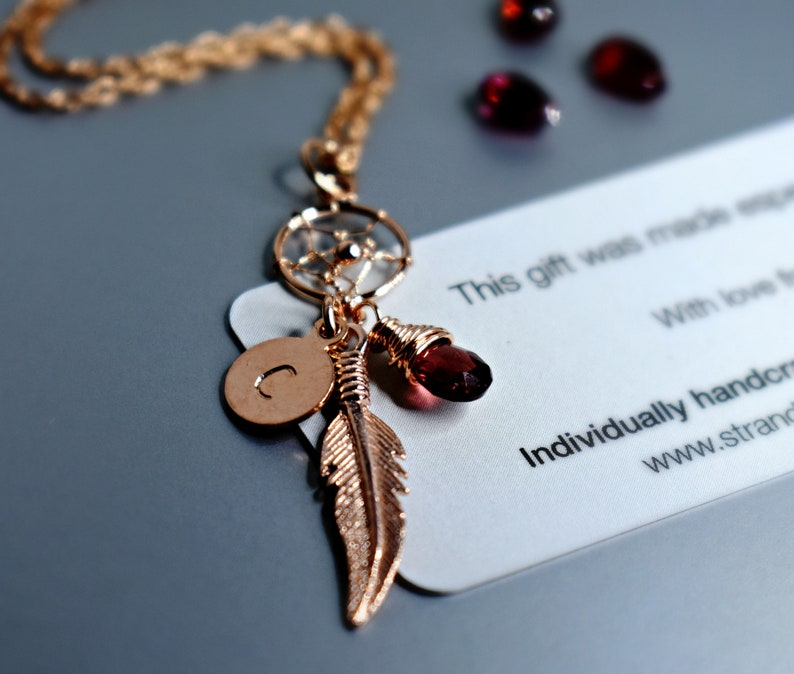 I UK SELLER Personalised Rosegold Dreamcatchers A
