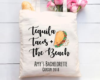 Bachelorette Party Totes. Bachelorette Party Favors. Bridesmaid Gift. Cancun Bachelorette Tote. Wedding Welcome Bags. Bachelorette Tote
