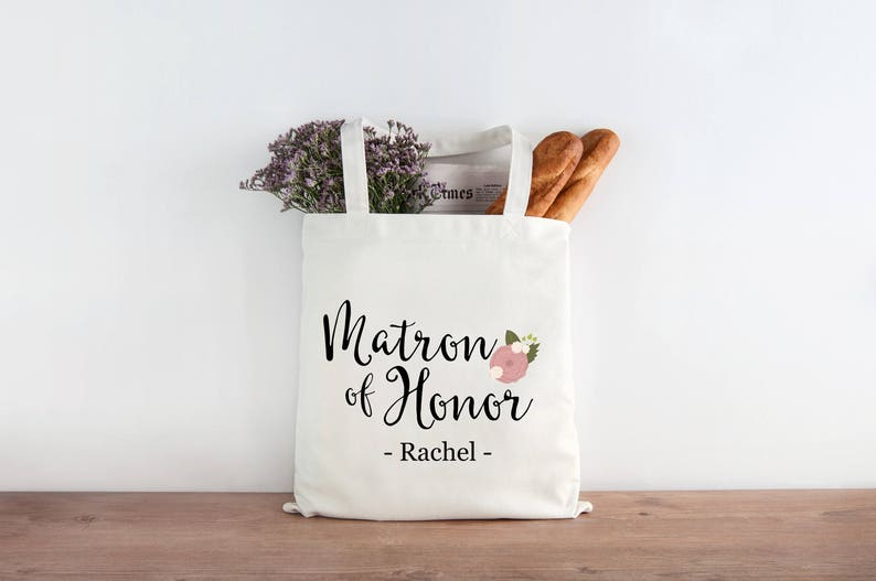 Personalized Matron of Honor Gift Bridesmaid Wedding Favor image 0