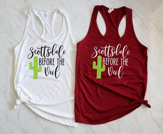 Scottsdale Bachelorette Tank. Bachelorette Party Tank.