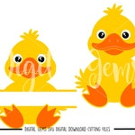 Duck, Duckling, Easter svg / dxf / eps files. Digital download. Compatible with Cricut and Silhouette machines. Small commercial use ok.