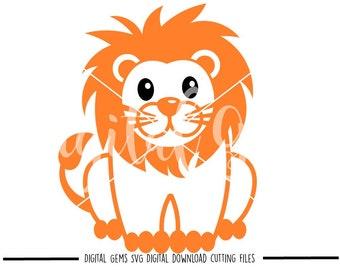Baby Lion Svg Etsy