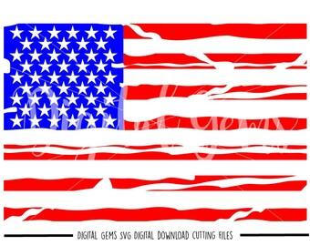 american flag svg dxf eps png files digital download etsy