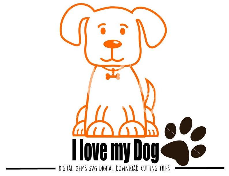 Download I Love My Dog Svg DXF
