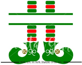 Elf Legs svg / dxf / eps / png files. Digital download. Compatible with Cricut and Silhouette machines. Small commercial use ok.