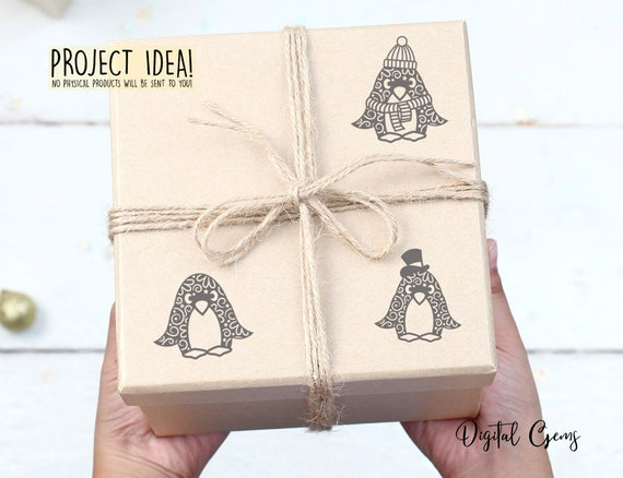 Penguin Paper Cut Designs Svg Dxf Eps Png Files And Pdf Etsy