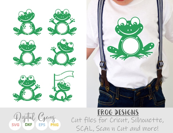 Frog svg / dxf / eps / png files  Digital download  Compatible with  Silhouette, Cricut, SCAL, and Scan n Cut  Small commercial use ok