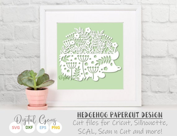 Hedgehog Paper Cut Svg Dxf Eps Files And Pdf Png Etsy