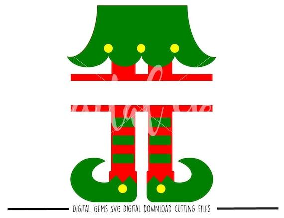 Split Elf Legs Svg Dxf Eps Png Files Digital Download Etsy
