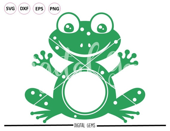 Frog svg / dxf / eps / png files  Digital download  Compatible with  Silhouette, Cricut, SCAL, Scan n Cut  Small commercial use ok