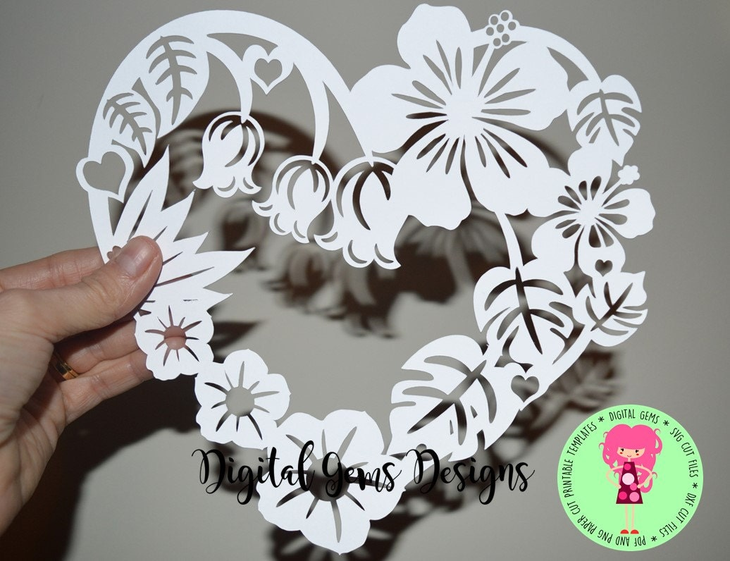 Flower Frame Paper Cut Svg Dxf Eps Files And Pdf Png Etsy