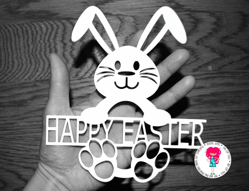 Easter Bunny paper cut svg / dxf / eps / files and pdf / png   Etsy