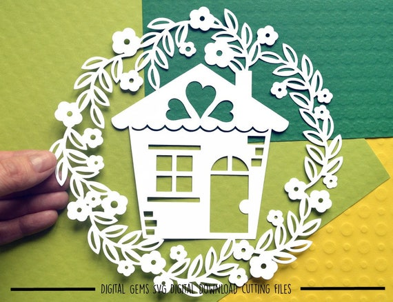 Home Sweet Home Paper Cut Svg Dxf Eps Files And Pdf Etsy