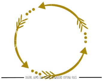 Arrow Circle svg / dxf / eps / png files. Digital download. Compatible with Cricut, Silhouette, SCAL and Scan n cut. Small commercial use ok