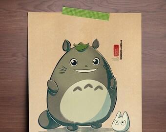 Chibi Ghibli Print - Totoro (My Neighbor Totoro)