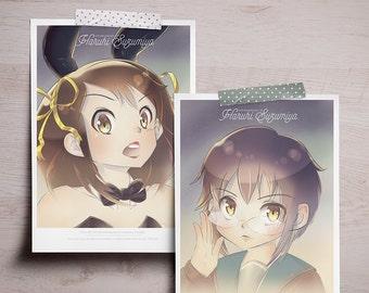 "The Melancholy of Haruhi Suzumiya - Mini Print 5""x7"""
