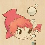 Chibi Ghibli Print - Ponyo (Ponyo)
