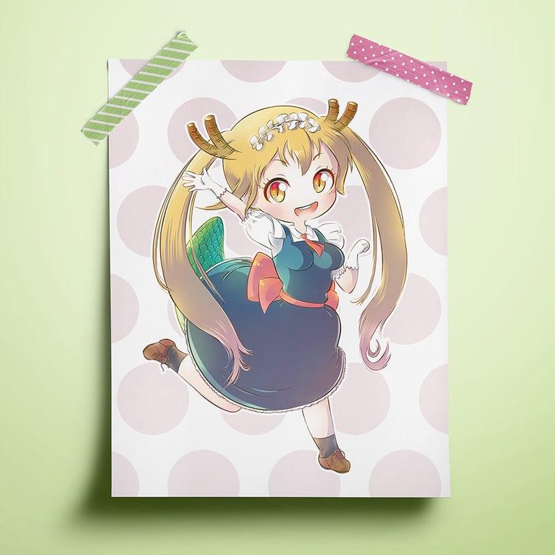 Miss Kobayashi's Dragon Maid Tohru 8.5 x 11 image 0