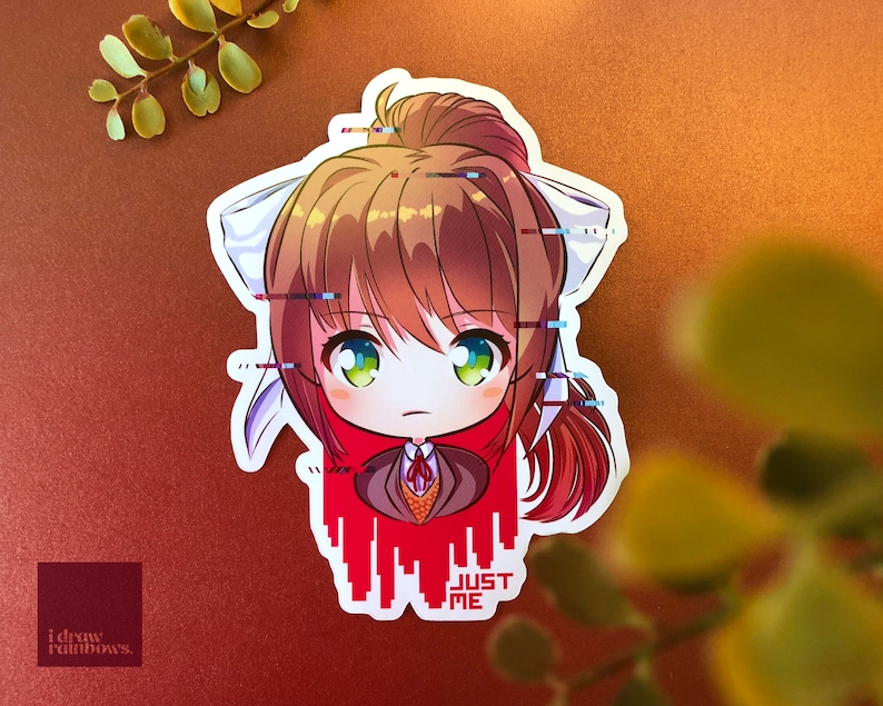 DDLC Doki Doki Literature Club Monika Vinyl Sticker image 0