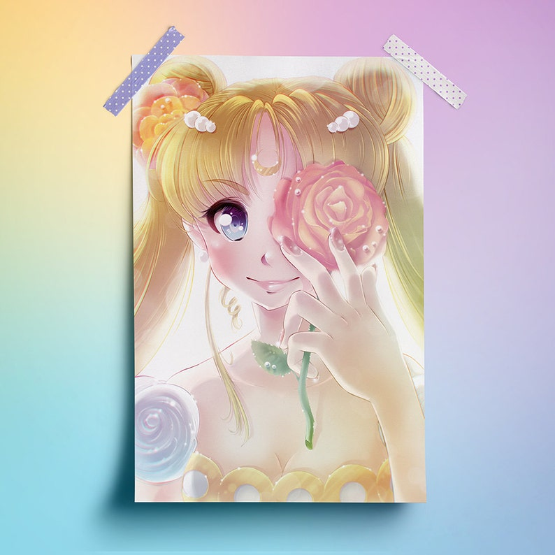 Princess Serenity Sailor Moon  11 x 17 Print image 0