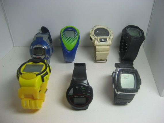 Vintage collectable digital watches G-Shock, Crazy