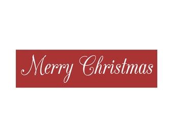 CHRISTMAS STENCIL, Merry Christmas, 6 x 22 stencil, sign stencil, create your own christmas signs!