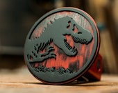 Jurassic Park - Weathered Red - Trailer Hitch Cover