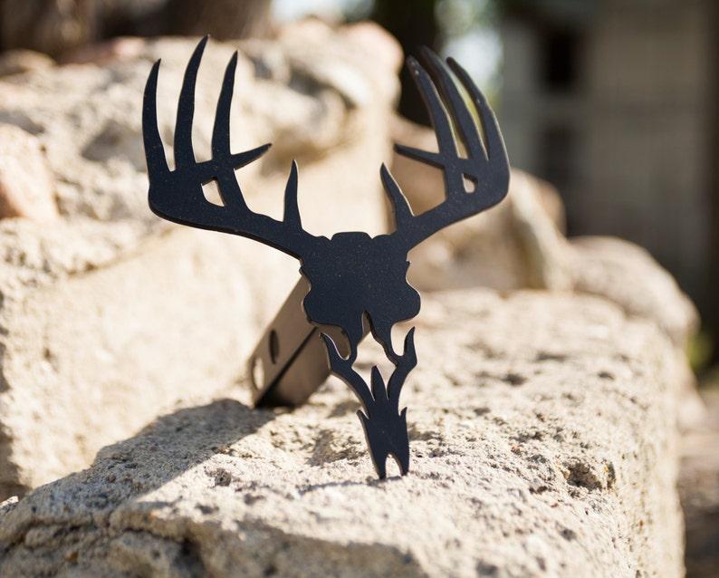 Trailer Hitch Cover Deer Skull