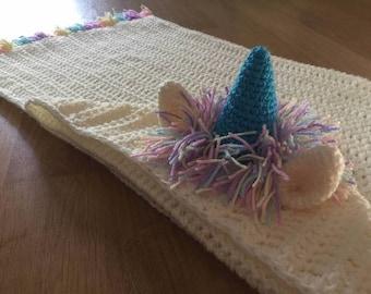 Unicorn Crochet Pattern, Unicorn Crochet, Unicorn Pattern, Hooded Unicorn, Blanket Pattern