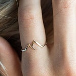 Mountain Ring sterling silver; gold or silver mountain ring; mountains are calling; mountain jewelry; mountain range ring; dainty jewelry