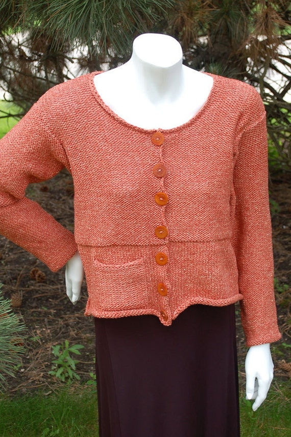 Womens Cardigan Knitting Pattern Hand Knit Cardigan Etsy