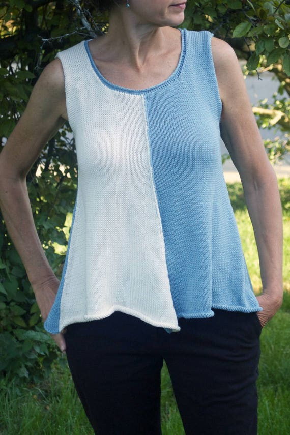 Summer Tank Knitting Pattern A line tank Sleeveless | Etsy