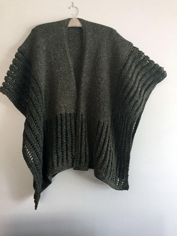Knit Wrap Knit Ruana Wrap Ruana Wrap To Knit Knitting Etsy