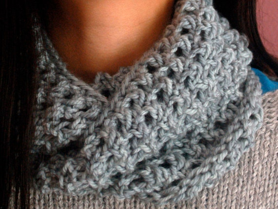 Ring Around The Collar Knit Infinity Scarf Knitting Pattern Etsy