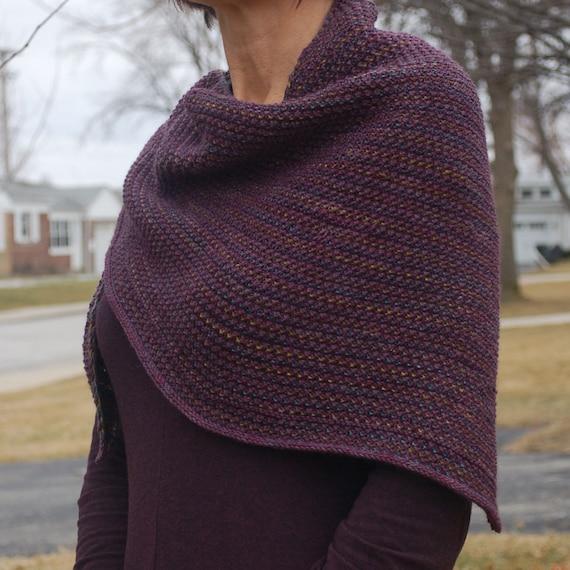 Triangle Shawl Knit Triangle Shawl Women S Shawl Knit Etsy