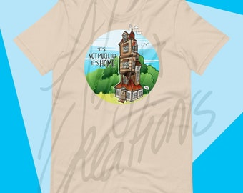 It's Home UNISEX T-shirt - for men and women - Wizard Family - Magical Buildings