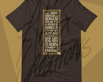 Riders UNISEX T-shirt - for men and women - LOTR - Hobbit - Quote - Tolkien - Lord of the Rings - Riders of Rohan - Rohirrim