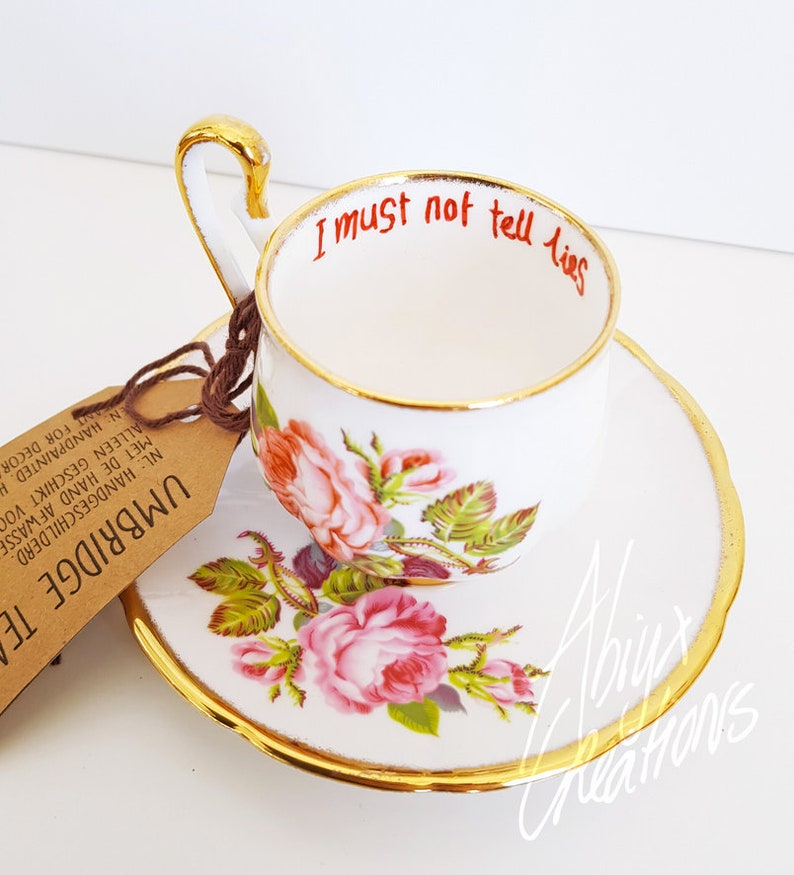 I must not tell lies  Teacup & Saucer  cosplay prop  image 0