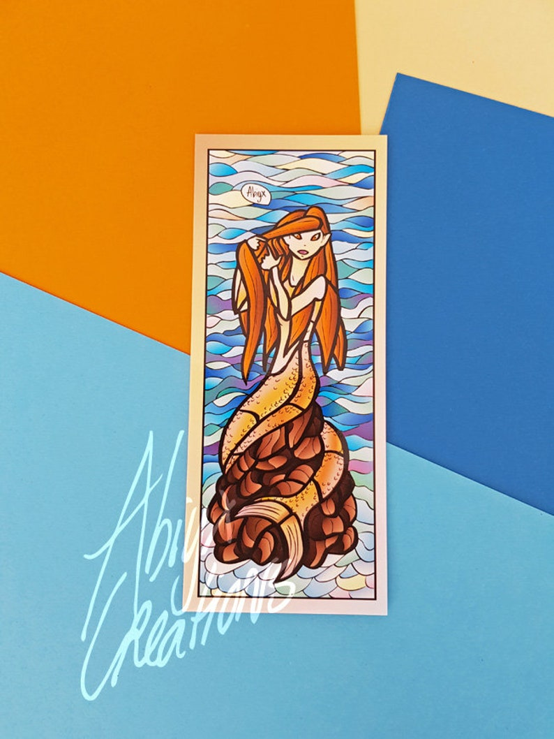 Bathroom mermaid bookmark  Hogwarts Harry Potter inspired image 0