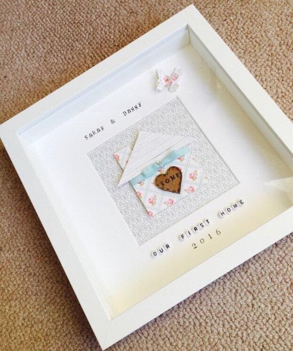 New home box frame gift home present handmade new home | Etsy