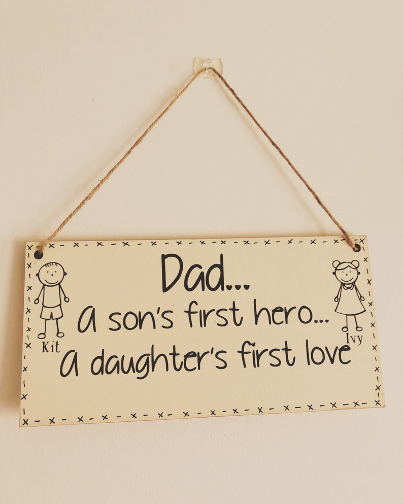 Dad Sign Fathers Day Birthday Gift For A Daughters