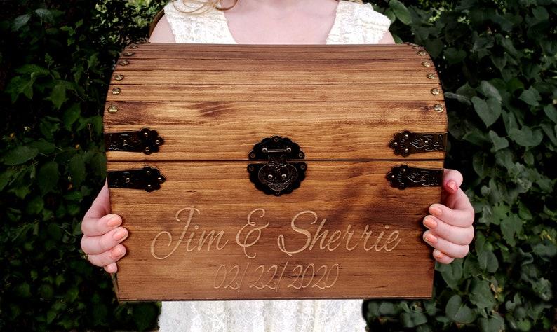 wedding card box rustic wedding card holder wedding card image 0