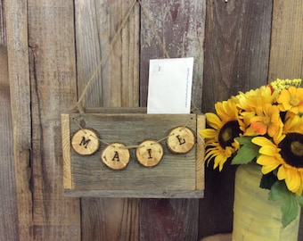 Wood Mail Holder, Mail Box Crate, Wedding Gift, House Warming Gift, Newlywed Gift, Mother's Day Gift, Personalized Gift, White Mail Crate