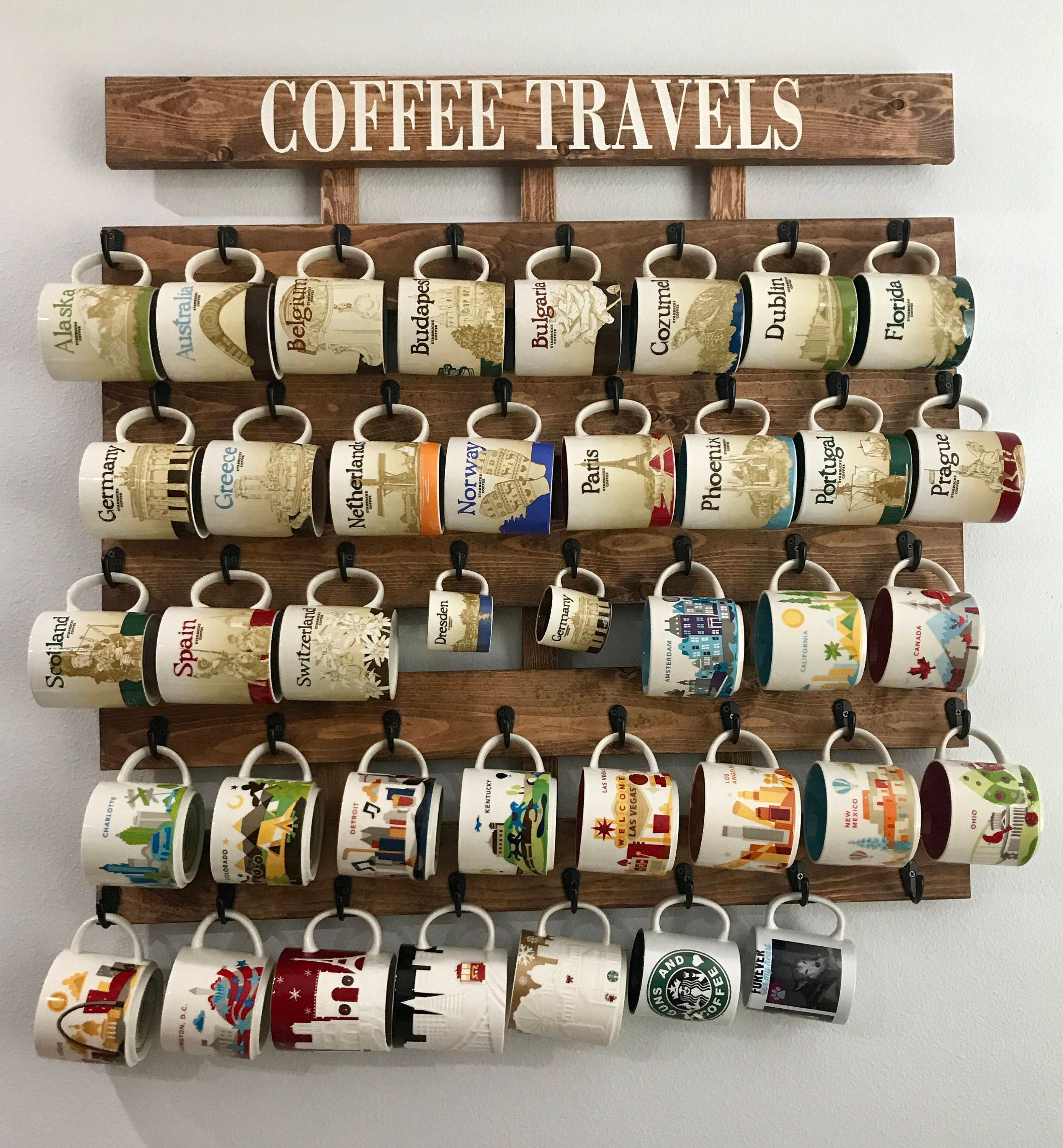 Starbucks Been There Coffee Cup Holder Coffee Cup Rack 40