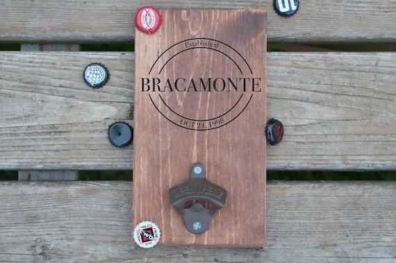 custom wood bottle opener board custom beer bottle opener etsy