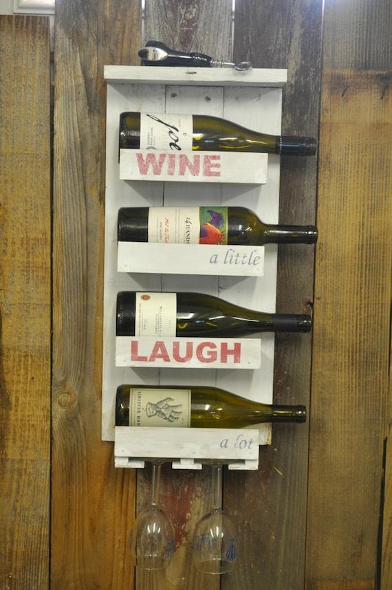 Wine Rack Wall Mounted Wine Rack Pallet Wood Wine Rack Wine Etsy