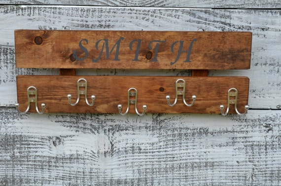 Rustic Wood Wall Coat Rack Entryway Storage Distressed Coat Etsy Classy Hanging Coat Rack With Storage