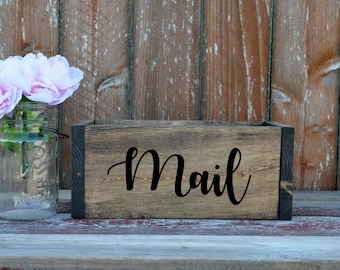 Mail Box, Letter Box, Chest, Cards Box, Wood Mail Holder