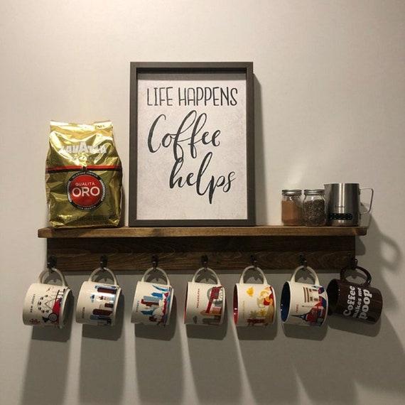 Mugs Hook Here Coffee Mug Shelf Holds Are Add Holder Cup Display Starbucks You Rack b6yY7fgv