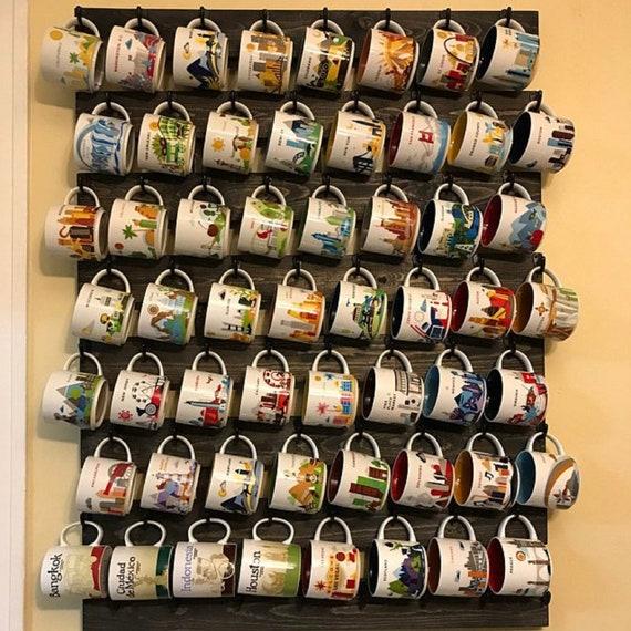 Starbucks You Are Here Mug Rack 56 Or 64 Hook Coffee Cup Holder Coffee Cup Rack Coffee Mug Rack Coffee Mug Holder Coffee Cup Display